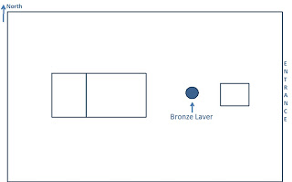 Bronze laver map